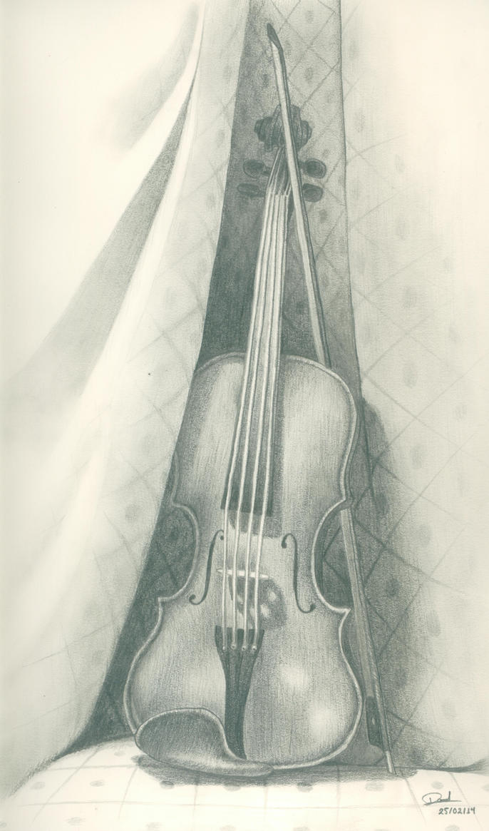 Violin On Quilt by Mancuspia