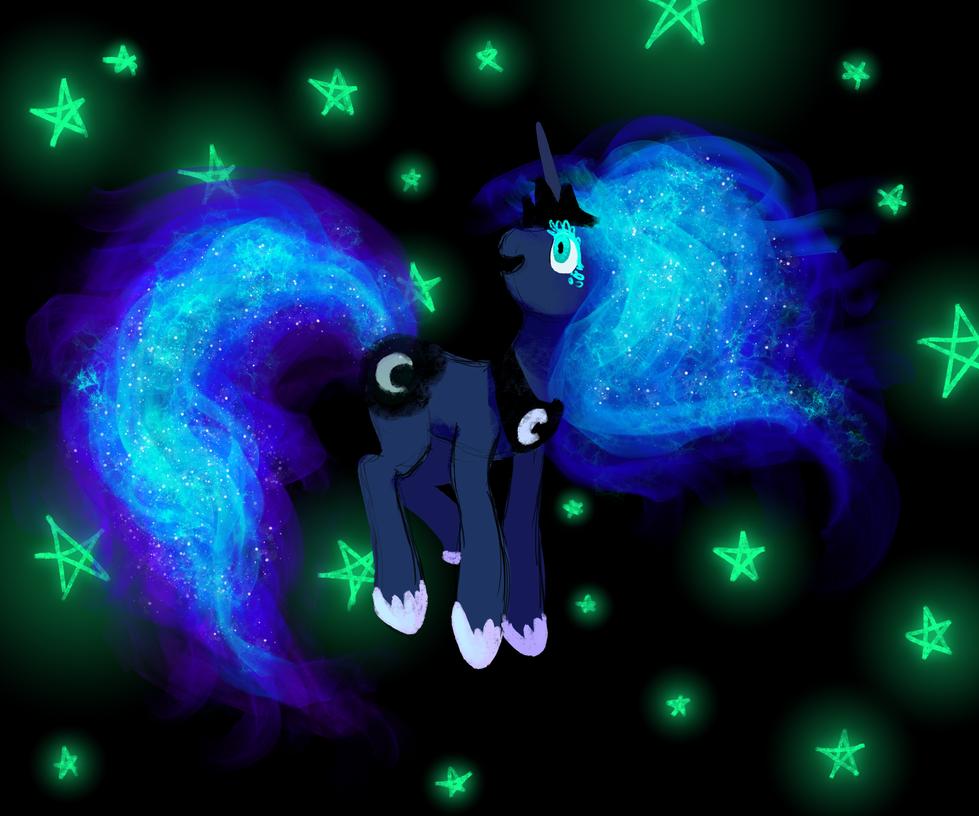 Princess Luna by wormologist