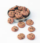 Mini Chocolate Chip Cookies by PepperTreeArt