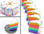 Rainbow Cake Phone Charms by PepperTreeArt