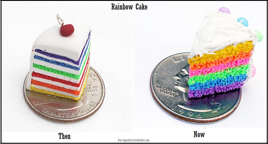 Then and Now: Rainbow Cake Charms by Bon-AppetEats