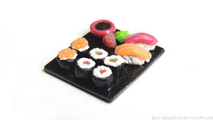 Sushi Plate Charm
