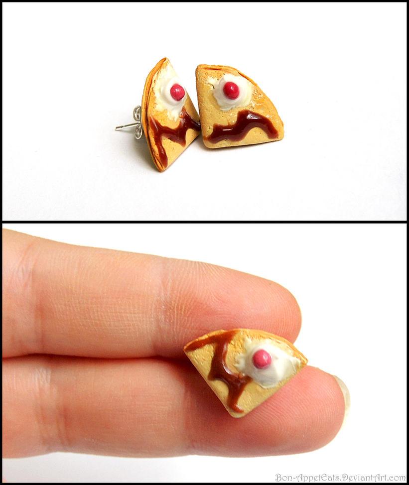 Crepe Post Earrings by Bon-AppetEats