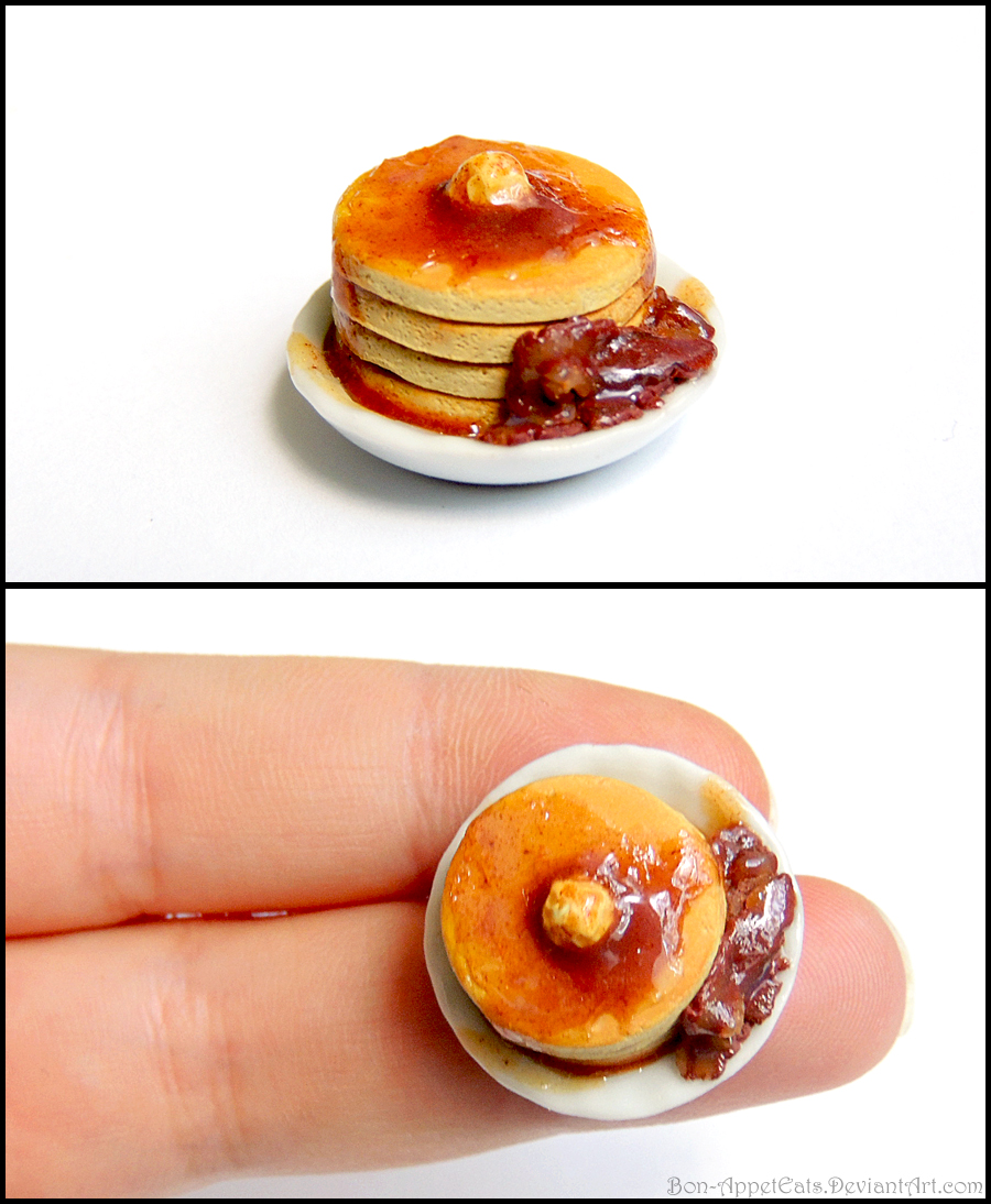 Miniature Pancake Plate with Bacon by Bon-AppetEats