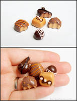 Cabochon Attempt 3 - Chocolates (WiP) by PepperTreeArt