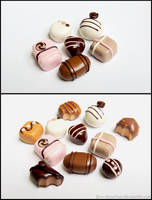 Chocolate Cabochons (Complete) by PepperTreeArt