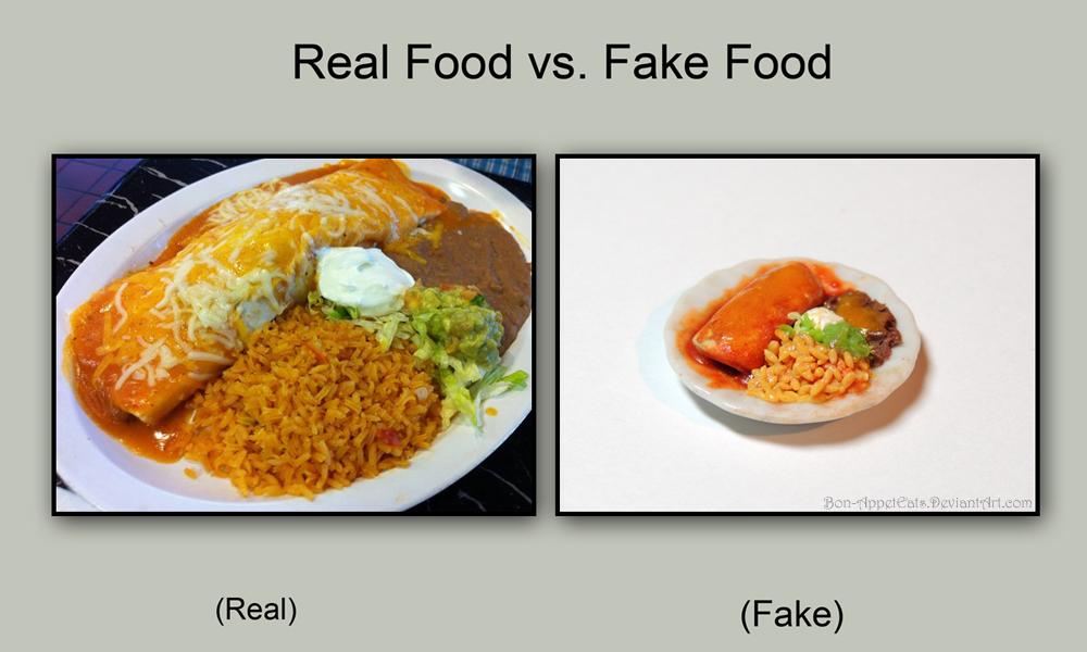 Real vs Fake - Burrito Plate by Bon-AppetEats