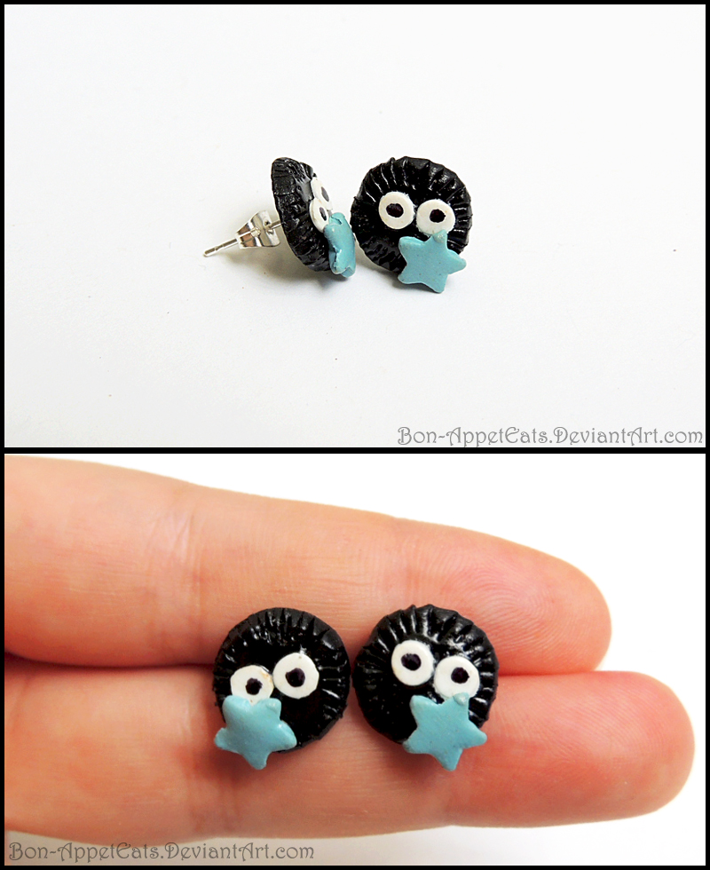 Soot Sprite Post Earrings by Bon-AppetEats