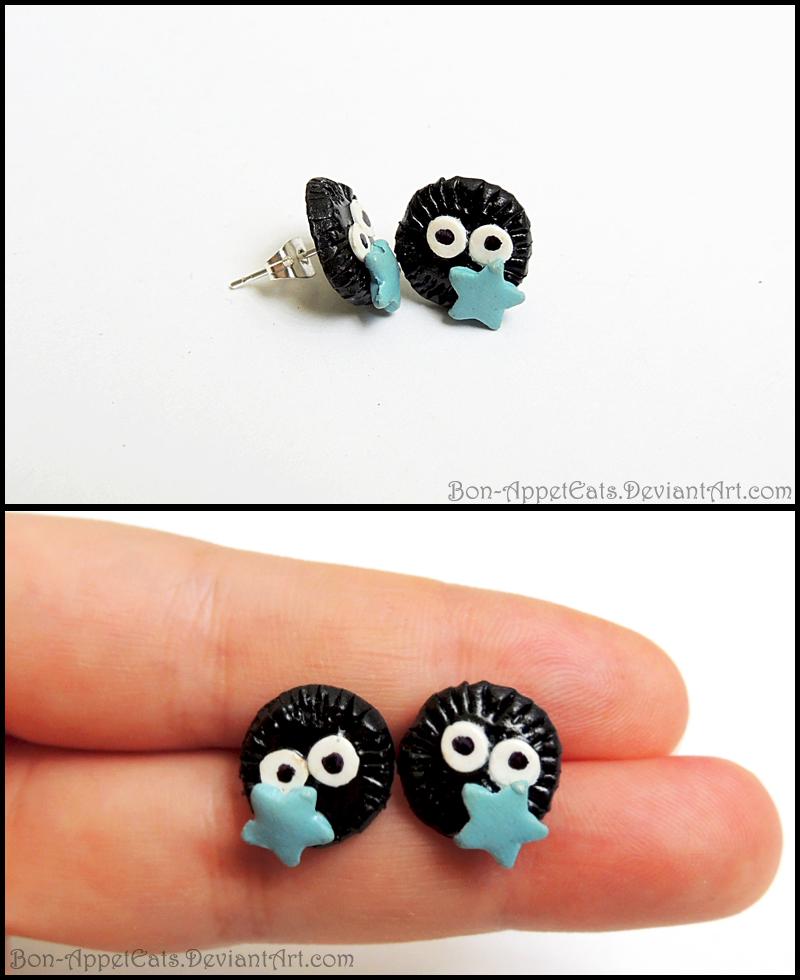 Soot Sprite Post Earrings by Bon-AppetEats