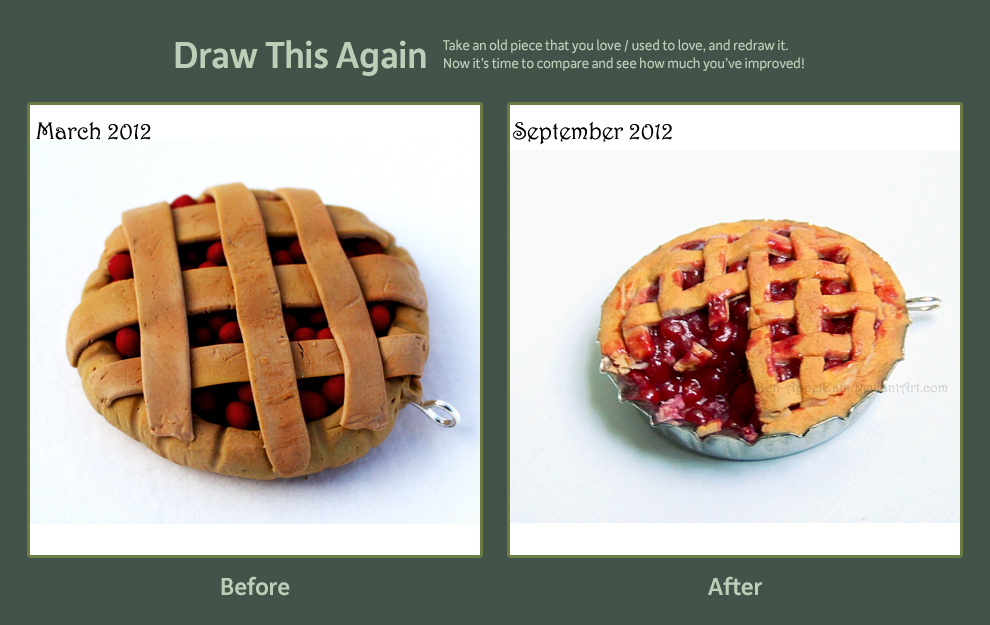 Draw This Again Entry - Cherry Pie Pendant by Bon-AppetEats
