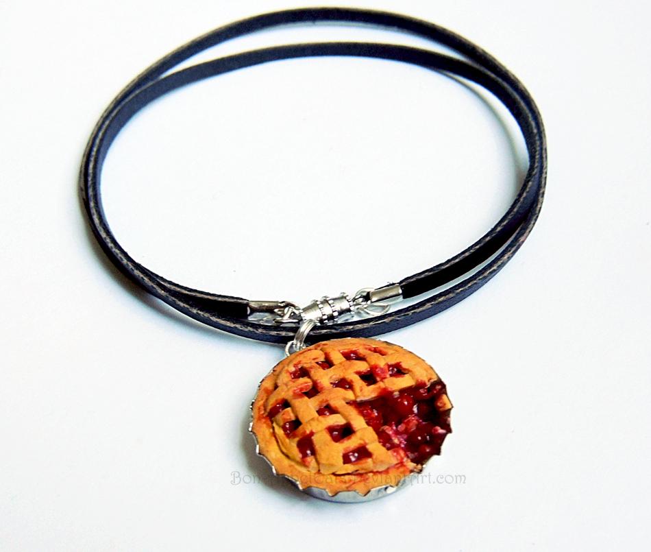 Cherry Pie Necklace by Bon-AppetEats