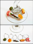 Hor D'Oeuvres Wine Charms