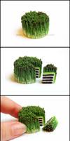 Miniature Asparagus Cake