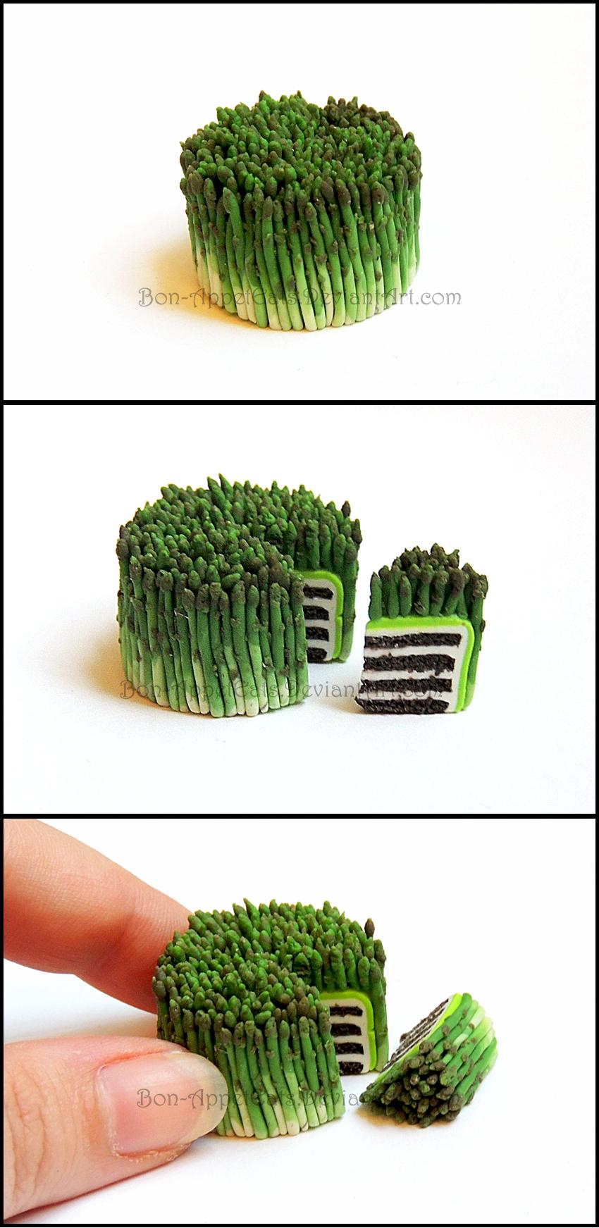 Miniature Asparagus Cake by Bon-AppetEats
