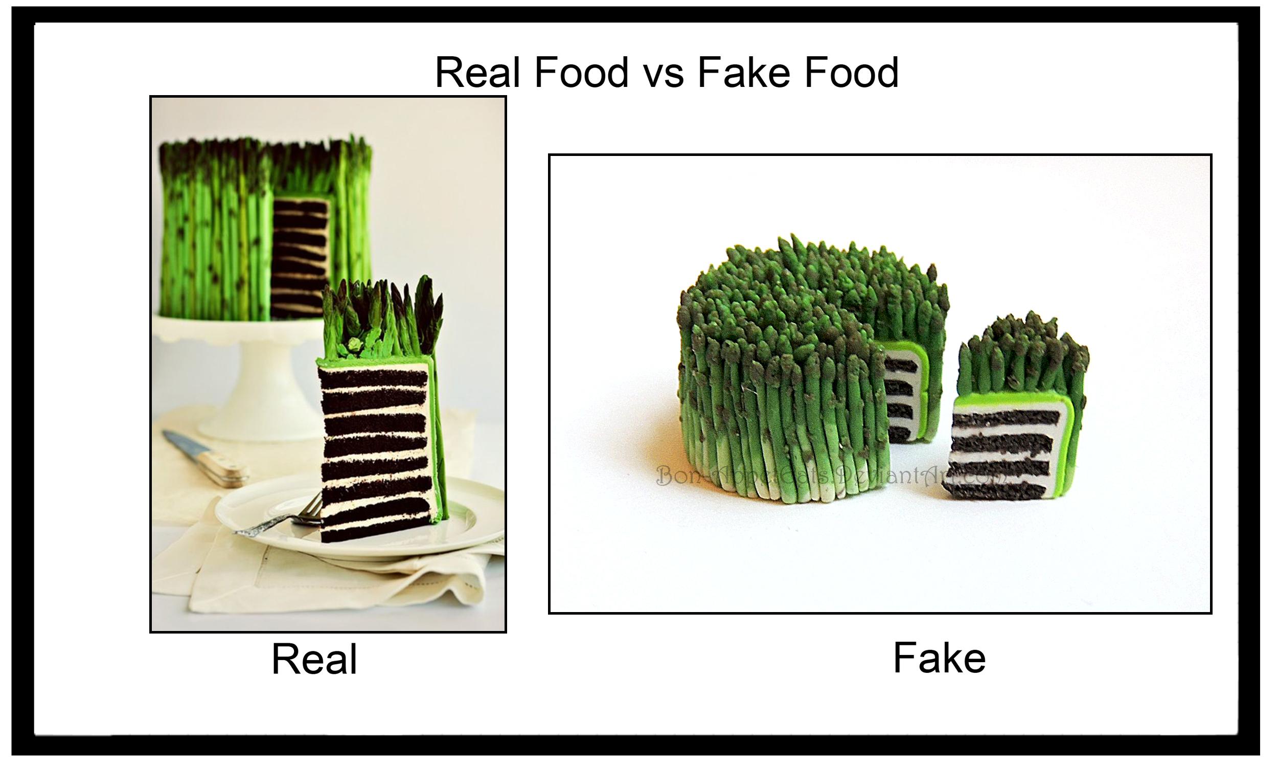 Real vs Fake - Asparagus Cake by Bon-AppetEats