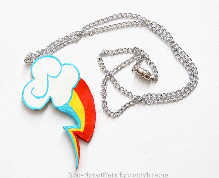 Rainbow Dash Cutie Mark Necklace by Bon-AppetEats