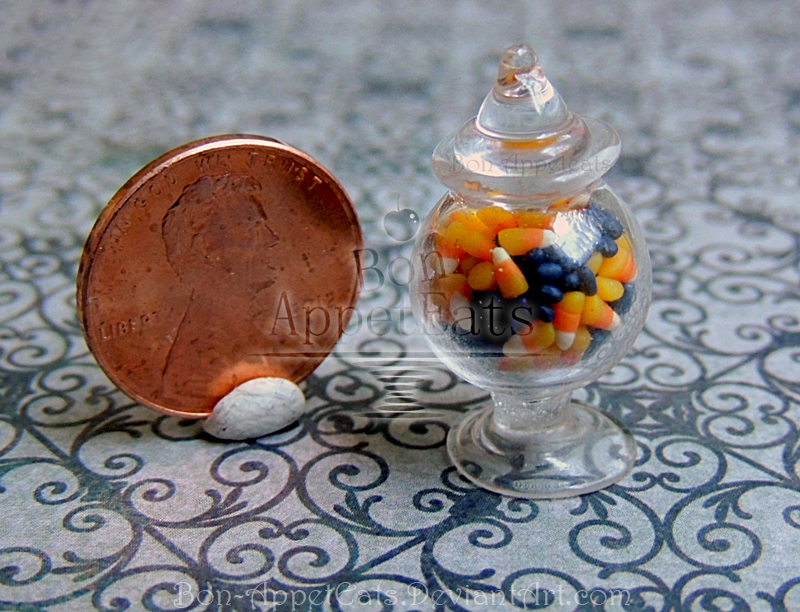 1:12 Halloween Candy Jar by Bon-AppetEats