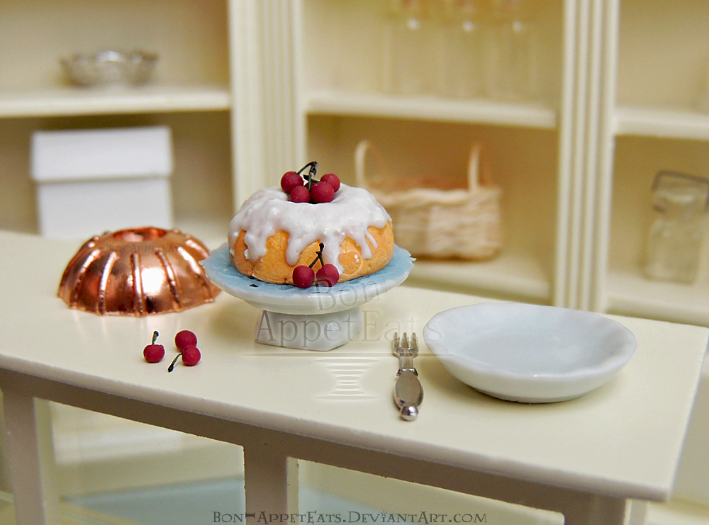 1:12 Bundt Cake with Cherries by Bon-AppetEats