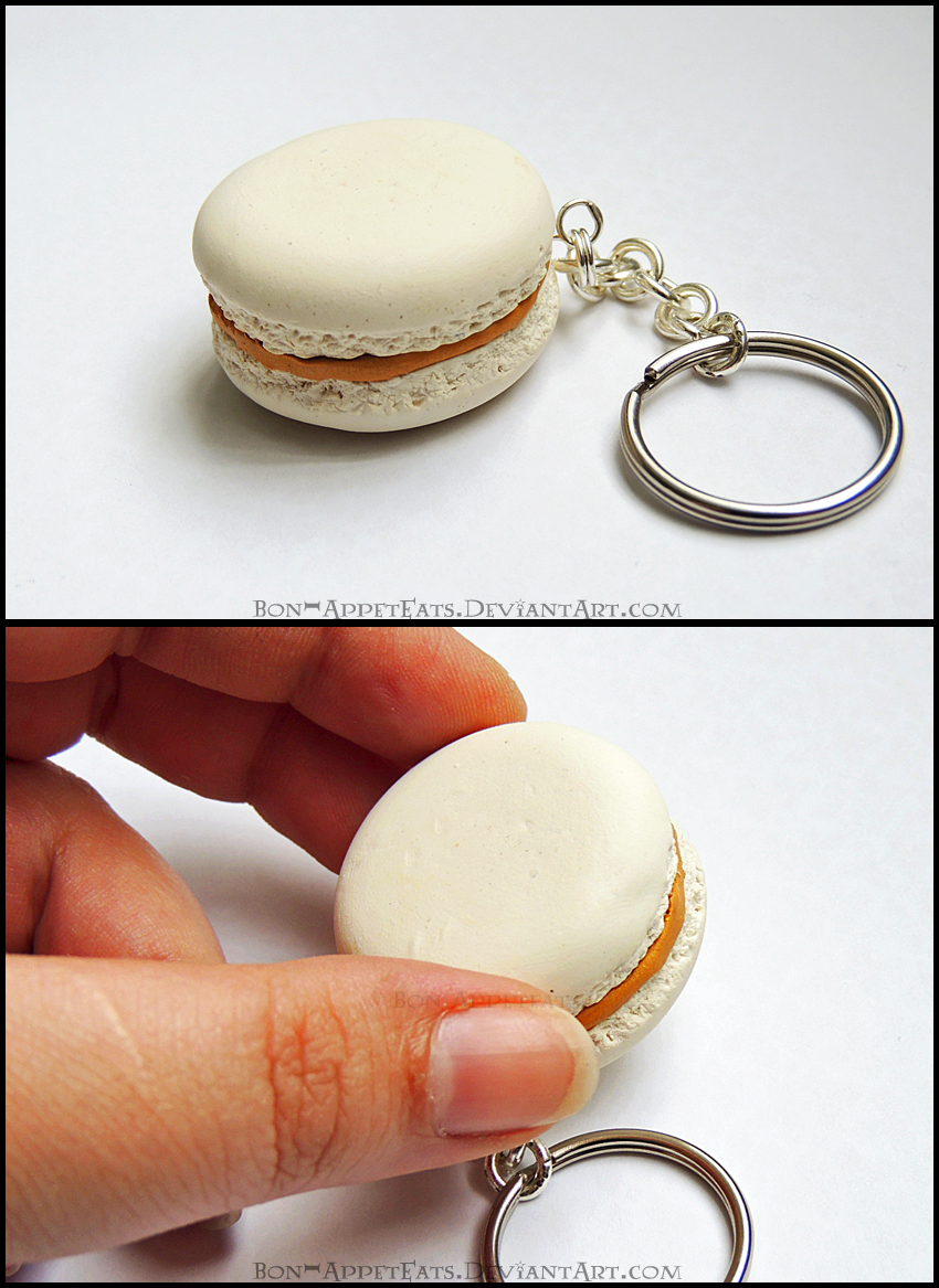 Commission - Macaron Key Chain by Bon-AppetEats