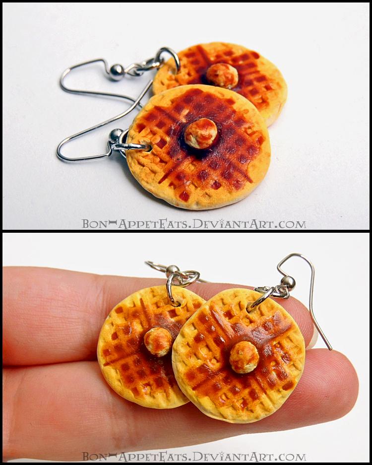 Waffle Earrings by Bon-AppetEats