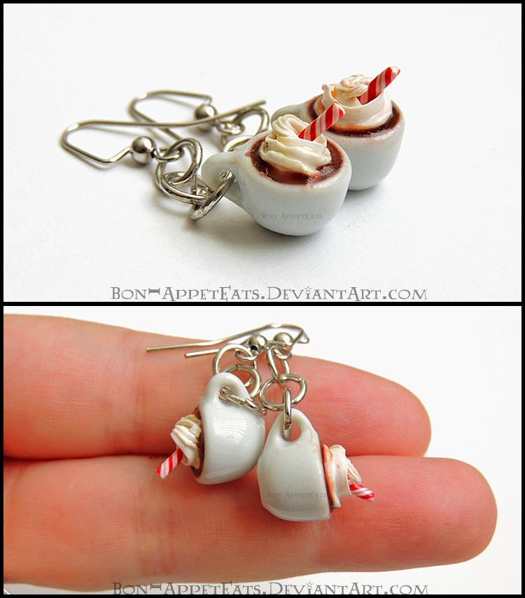 Hot Chocolate Earrings by Bon-AppetEats