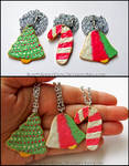 Frosted Christmas Sugar Cookie Necklaces
