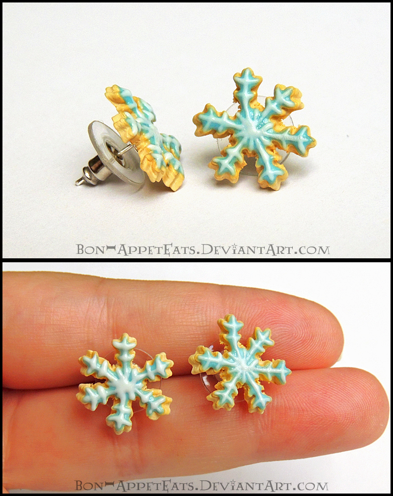 Snowflake Sugar Cookie Post Earrings by Bon-AppetEats