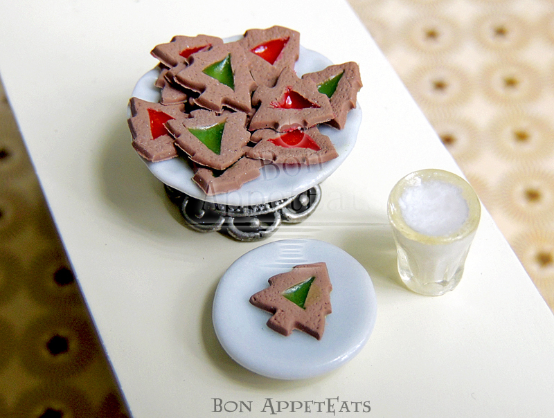 1:12 Gingerbread Stained Glass Tree Cookies by Bon-AppetEats