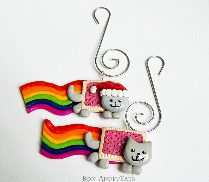 Nyan Cat Christmas Tree Ornament by Bon-AppetEats