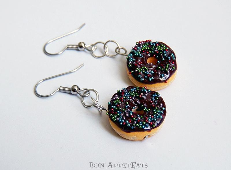Commission - Donut Earrings by Bon-AppetEats