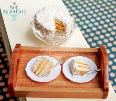 1:12 Coconut Cake with Lemon Filling by PepperTreeArt