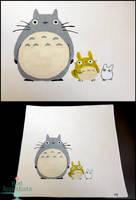 Totoro Themed Plate by PepperTreeArt
