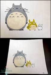 Totoro Themed Plate by PepperTreeArt