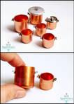 1:12 Copper Pots