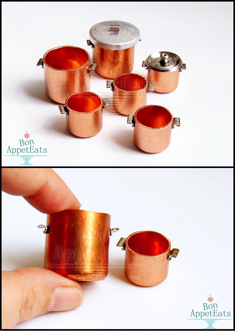 1:12 Copper Pots by Bon-AppetEats