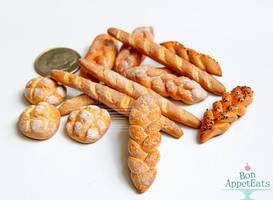 1:12 Misc Breads by PepperTreeArt