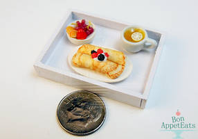 1:12 Crepe Breakfast Tray by PepperTreeArt