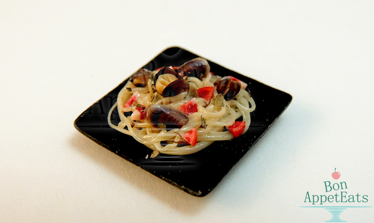 1:12 Mussel Pasta Plate by Bon-AppetEats