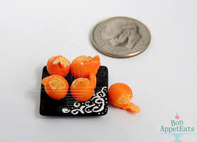 1:12 Semi-Peeled Oranges by PepperTreeArt