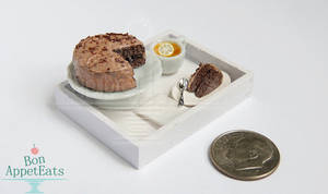 Gift - 1:12 Chocolate Cake Serving Tray
