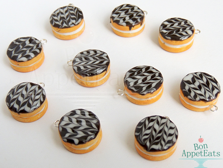 Miniature Boston Cream Pie Charms - Charity Item by Bon-AppetEats