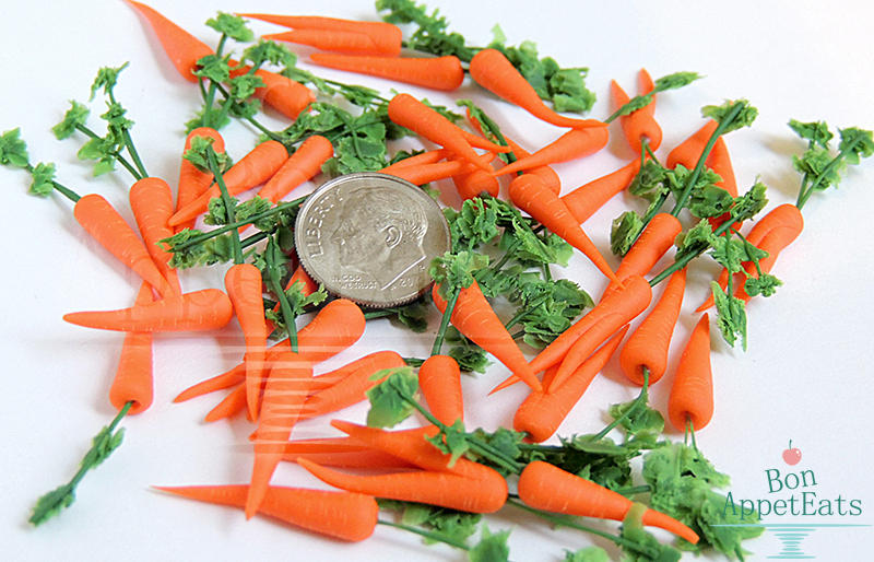 Commission - 40 Miniature Carrots by PepperTreeArt