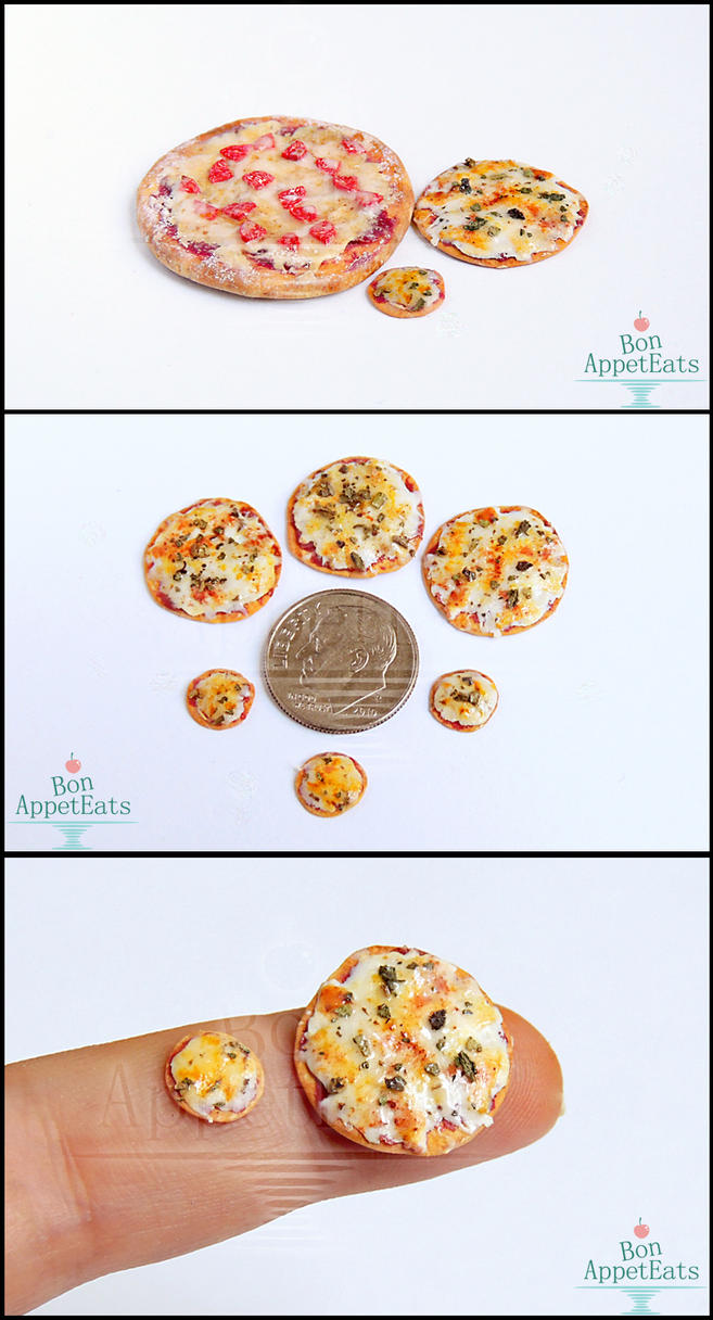 1:24 and 1:48 Scale Cheese and Basil Pizza by Bon-AppetEats