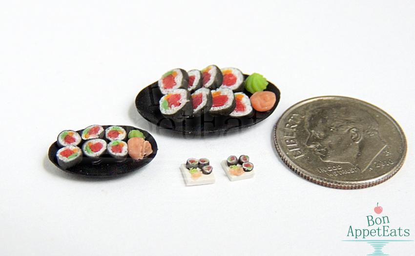 1:12, 1:24, 1:48 Sushi Plates by Bon-AppetEats