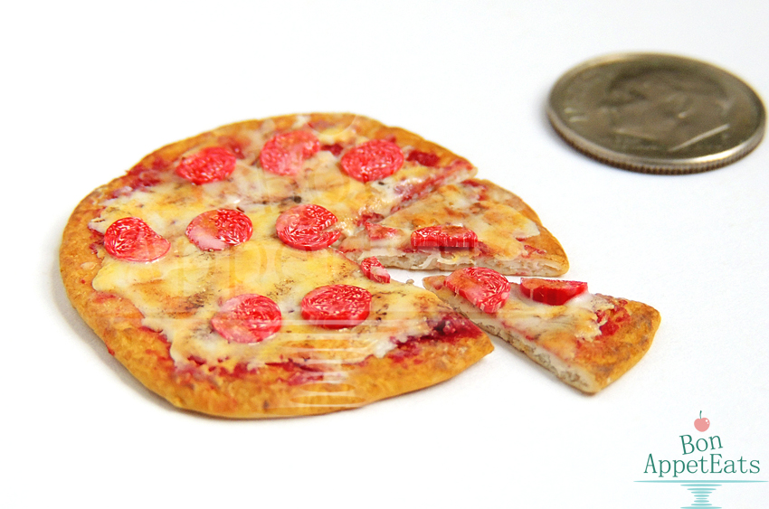 1:12 Pepperoni Pizza with Slices by Bon-AppetEats
