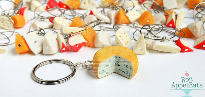 Commission - 15 Cheese Wine Charm Sets by PepperTreeArt