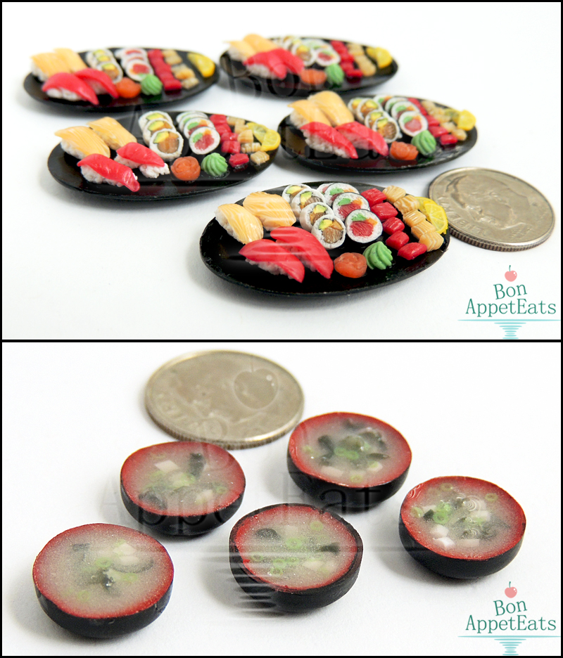 1:12 Sushi Platters and Miso Soup by Bon-AppetEats