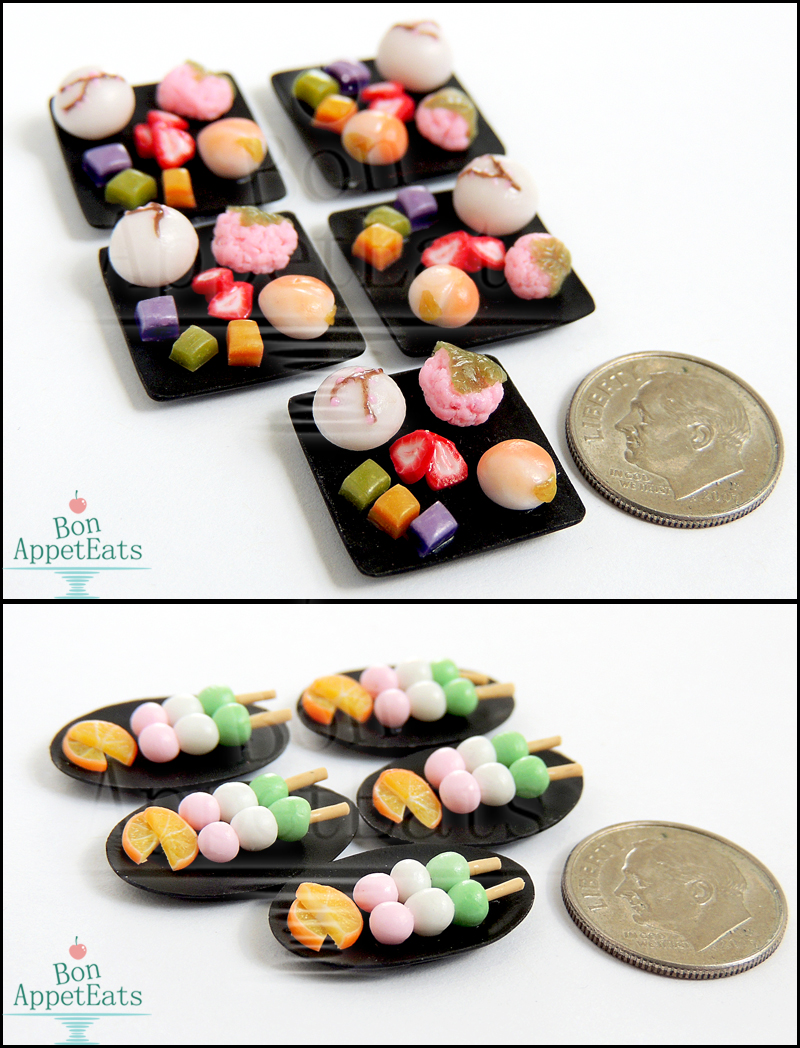 Commission - 1:12 Japanese Tea House Desserts by Bon-AppetEats