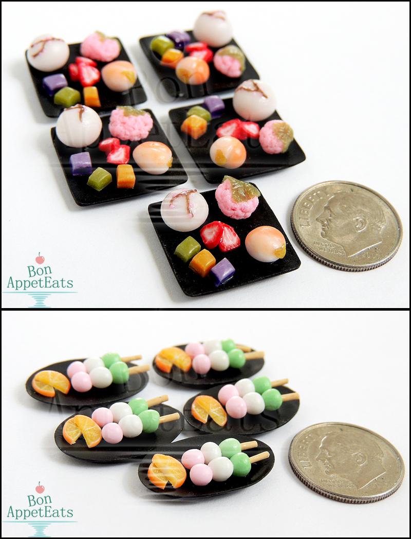 Commission - 1:12 Japanese Tea House Desserts by Bon-AppetEats