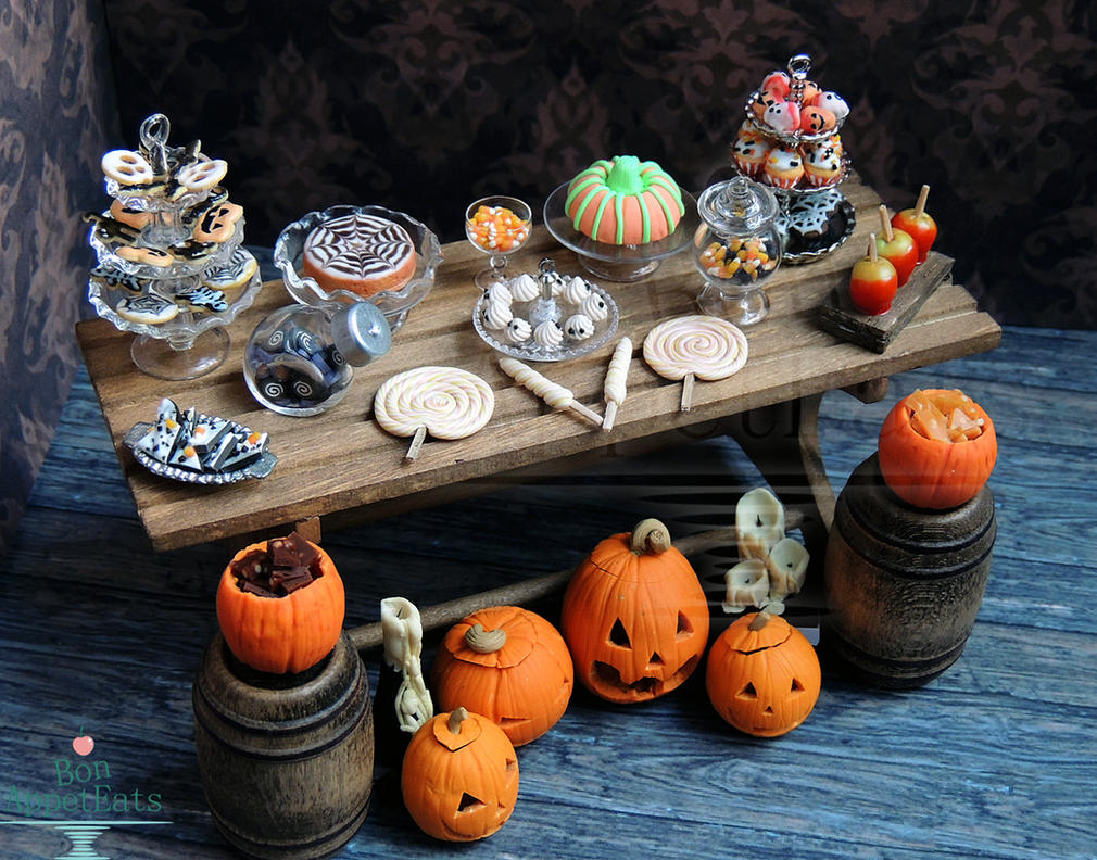 1:12 Halloween Dessert Table 2013 by Bon-AppetEats